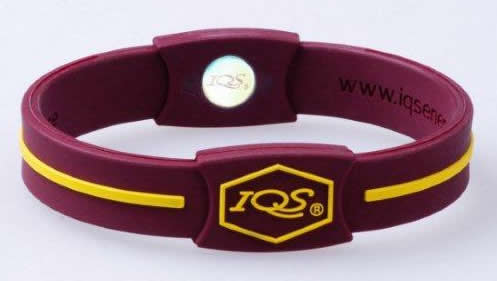 maroon/gold wristband